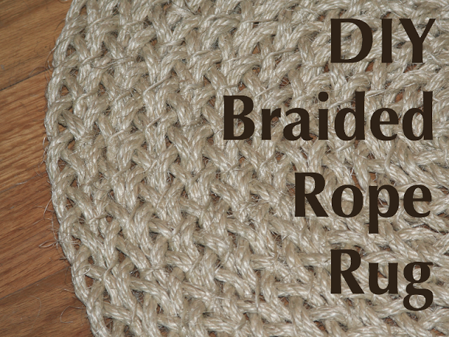 How To Make A Braided Rope Rug Very Easy Do This Would Also Be Fun Try With Fabric