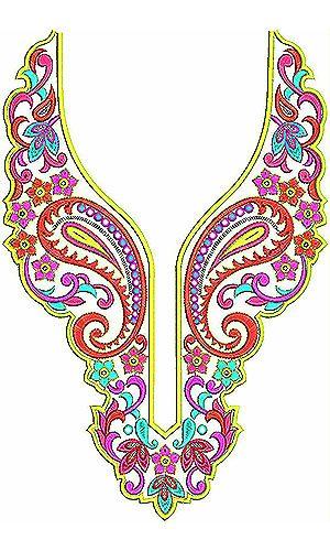 Pashtun Clothing Embroidery Neck Yoke Gala Design