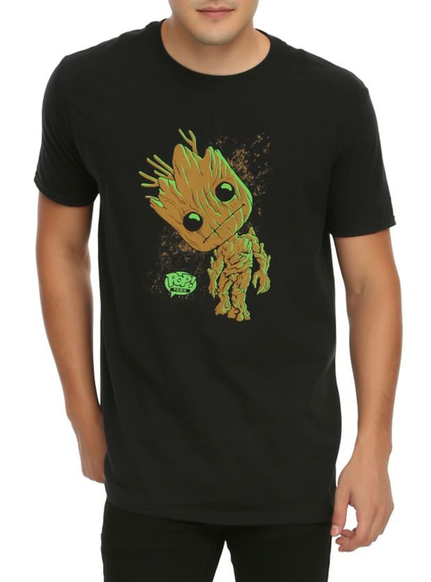 b034948b4c63 Funko Marvel Pop! Guardians Of The Galaxy Groot T-Shirt Hot Topic Exclusive
