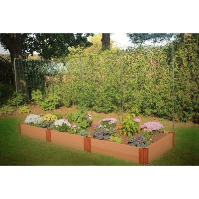Frame It All 2 Inch Series Composite Raised Garden Bed Kit