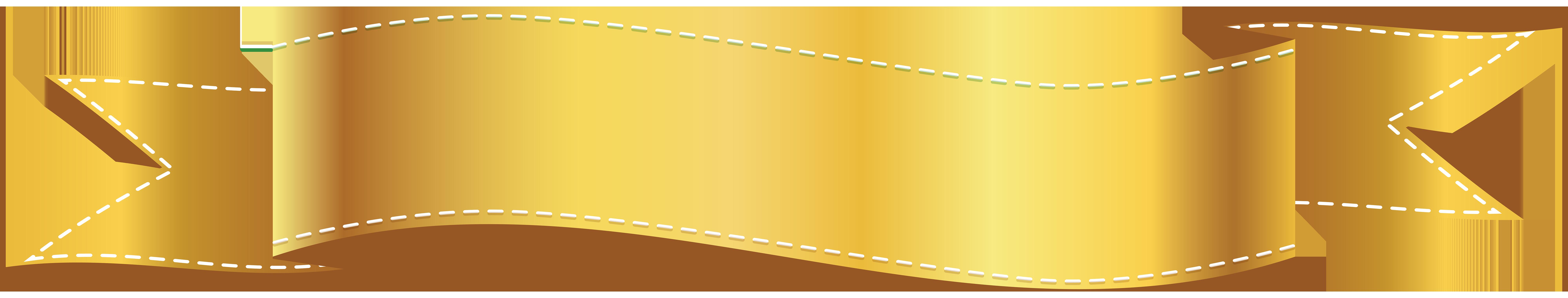 Golden Banner PNG Clip Art Image | wall backgrounds & decorative ...