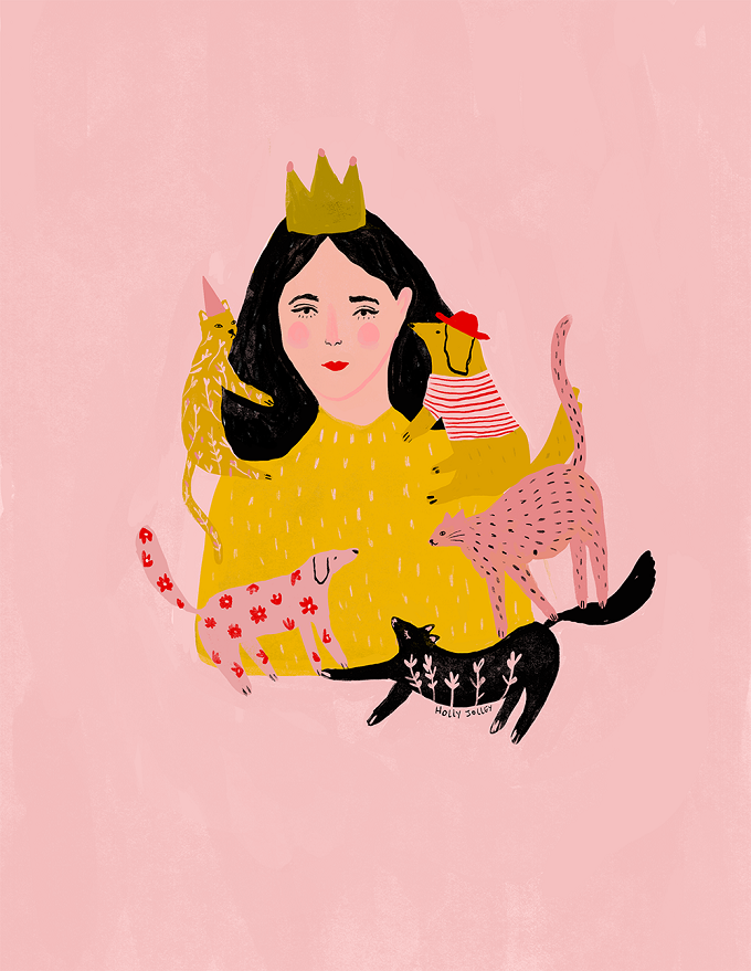Illustrated Ladies (and lots of pink) by Holly Jol