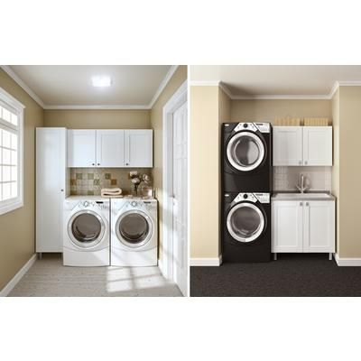 Hampton Bay Modular Cabinet Solutions Arctic White Vertical
