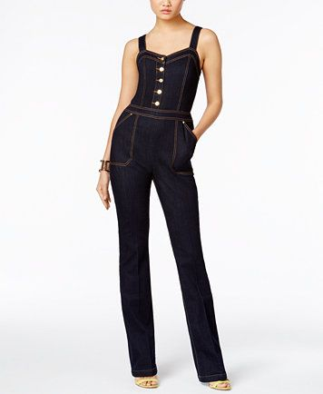 luxuriant in design quality design attractive style INC International Concepts Denim Straight-Leg Jumpsuit, Only ...