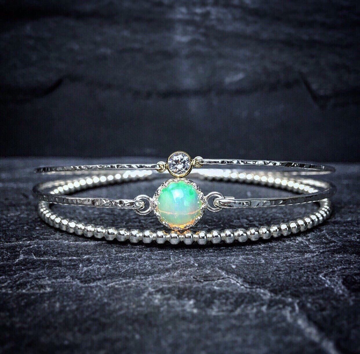 hamsa with zirconia created opal bracelet real bangle products cubic goldtone iced stones out sto silver cuff sterling