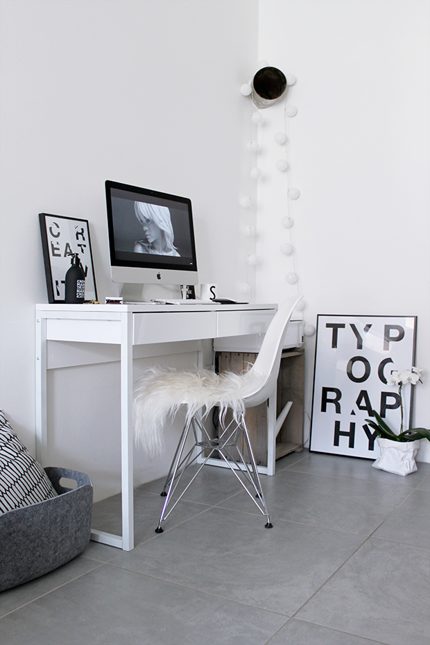 MA MAISON BLANCHE: Typography, Creativity & Love in my home office