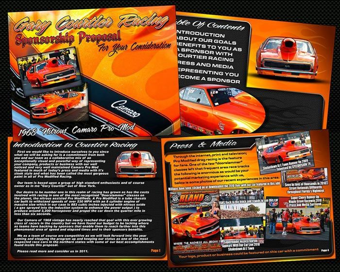 wwwgodragracingorg picts gary-courtier-camaro-pro-mod - sponsorship proposal template