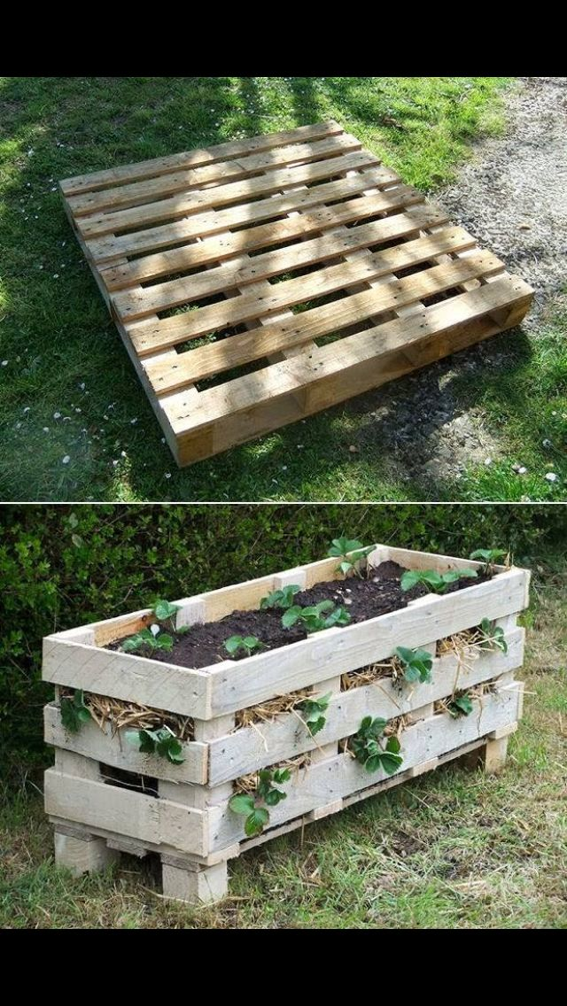 pallet planter box pallet planter diy pallet planter on easy diy woodworking projects to decor your home kinds of wooden planters id=30248
