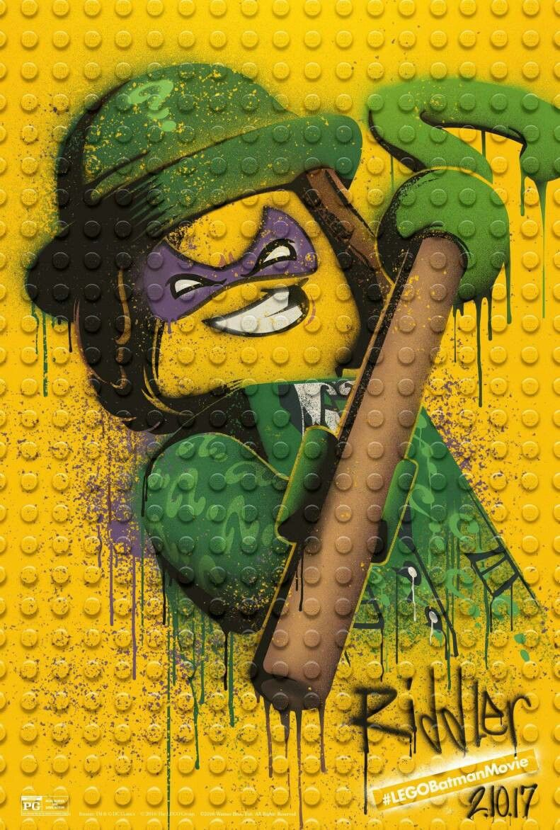 The lego batman movie. Riddler's poster.