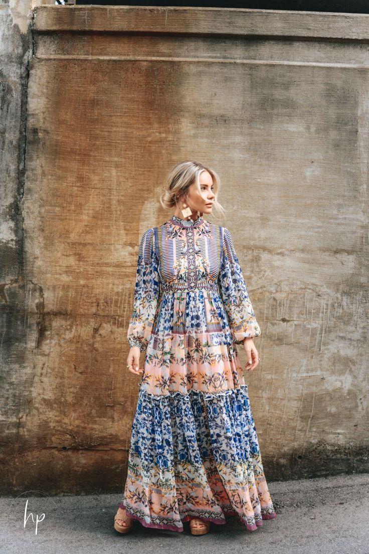 Victorian Romance Style. Maxi Boho Dress for Fall Season. Hunter Premo #HunterPremo #BohoStyle