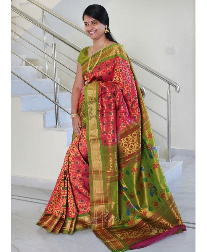 fda6bf0e2 Buy Light Weight Pure Silk Sarees Online- Siricollections.in ...