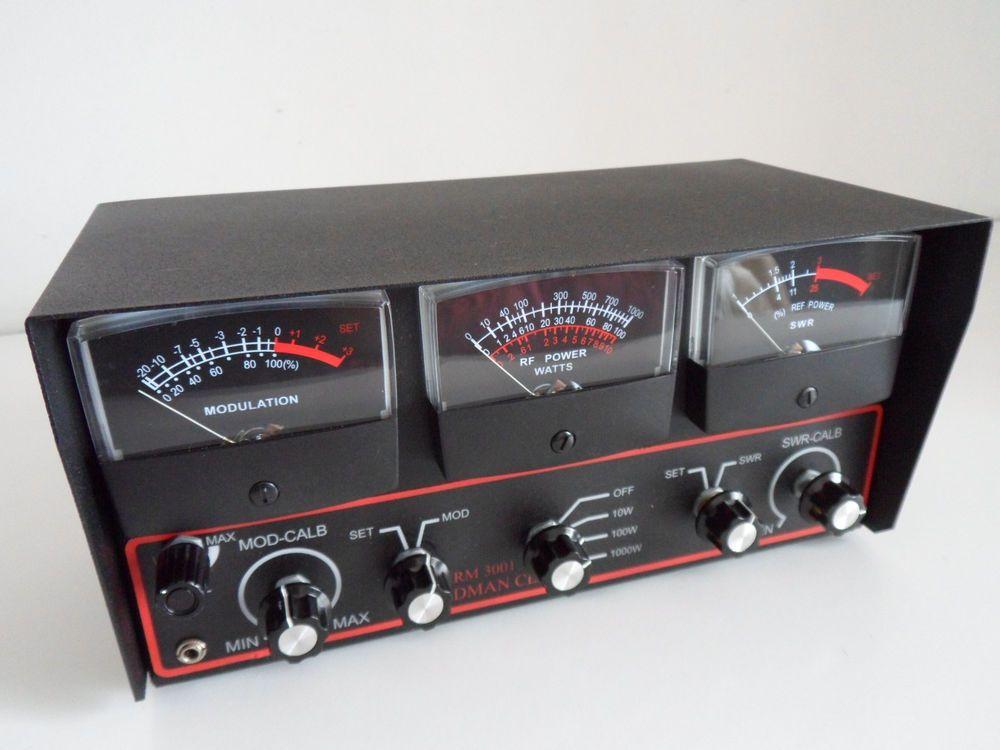 Redman Rm 3001 Cb Modulation Rf Power Swr Meter