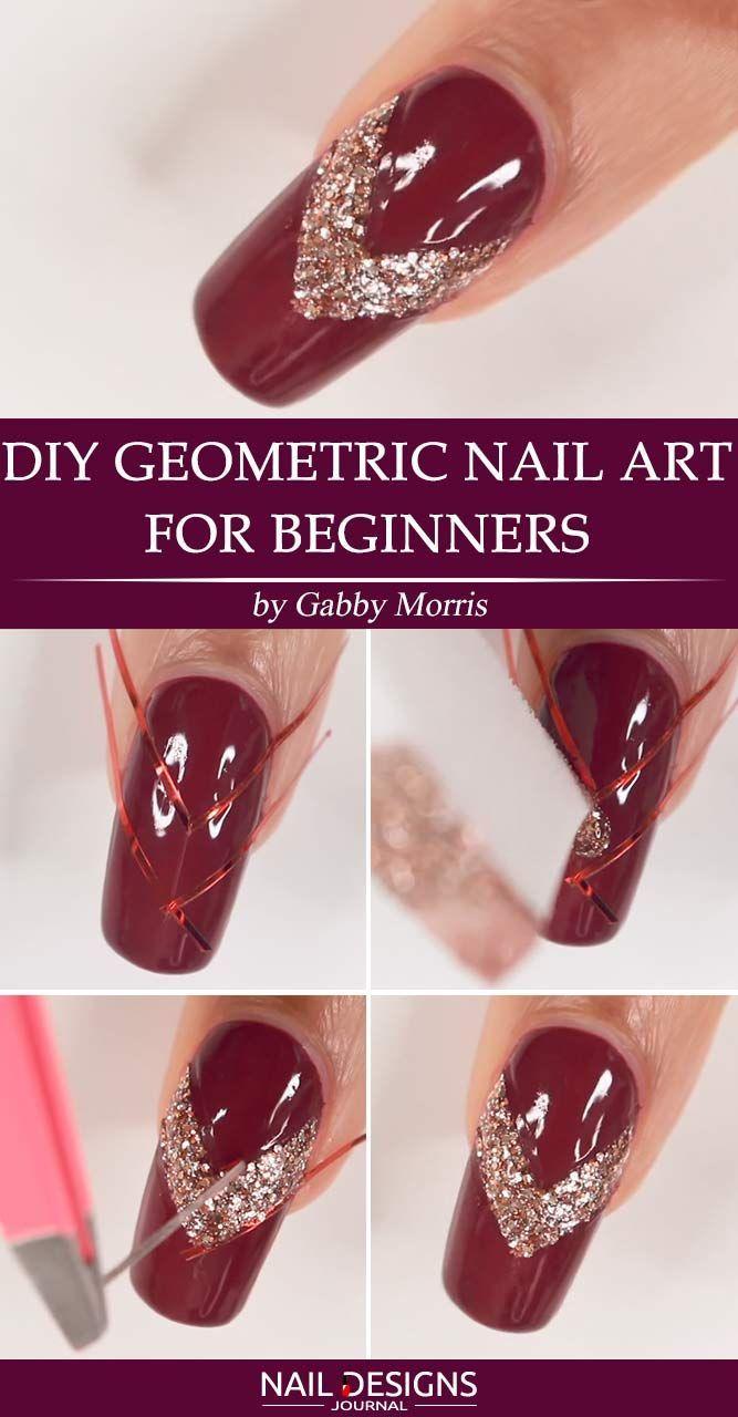 Super Easy Nail Designs DIY Tutorials  DIY Geometric Nail Art
