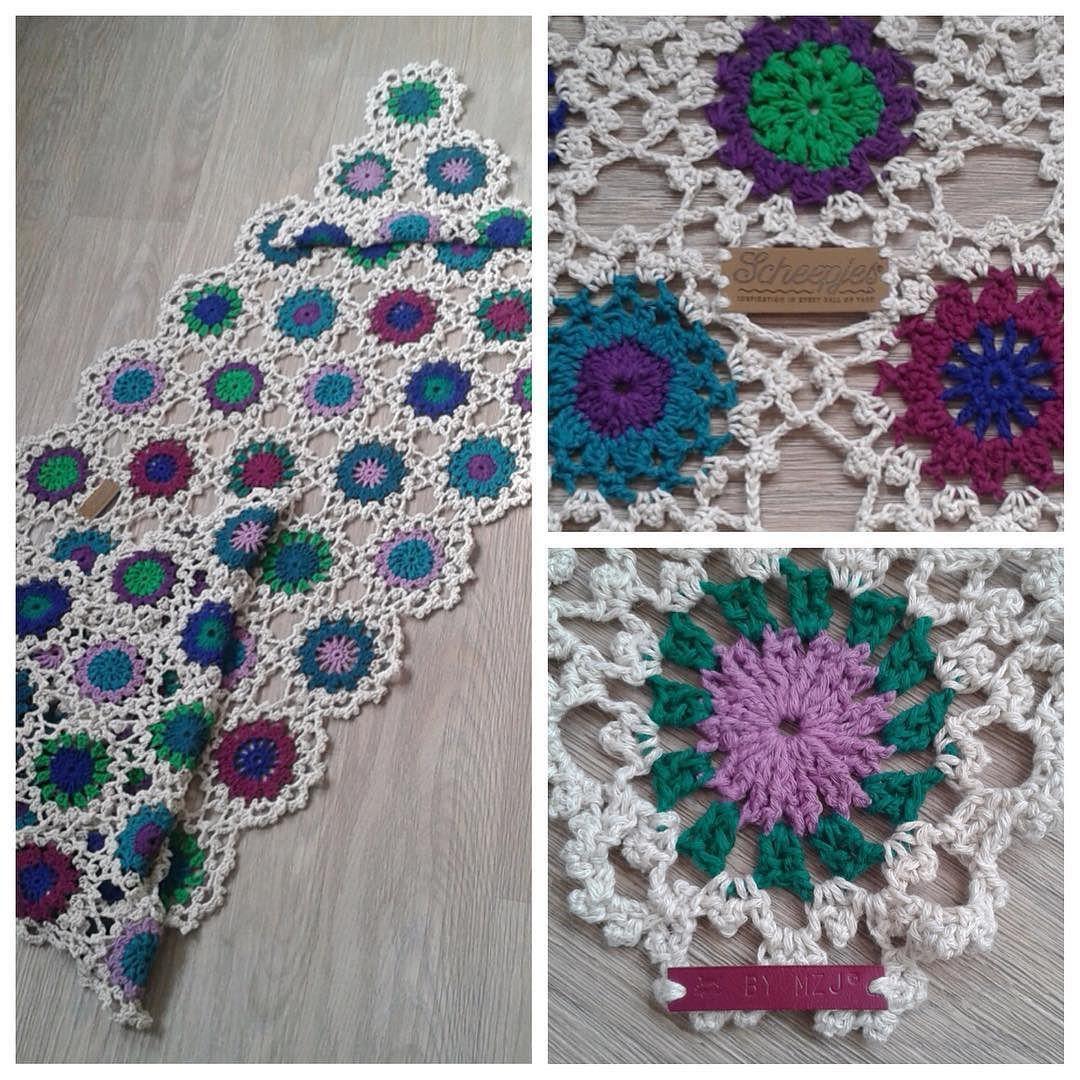 Eindelijk is mijn scheepjes cal 2015 af. En ben er erg blij mee. #haken #hakeniship #hakenisleuk #hakeniscool #instacrochet #crochet #virka #handmade #leathertagsbydehaakfabriek by by.mzj