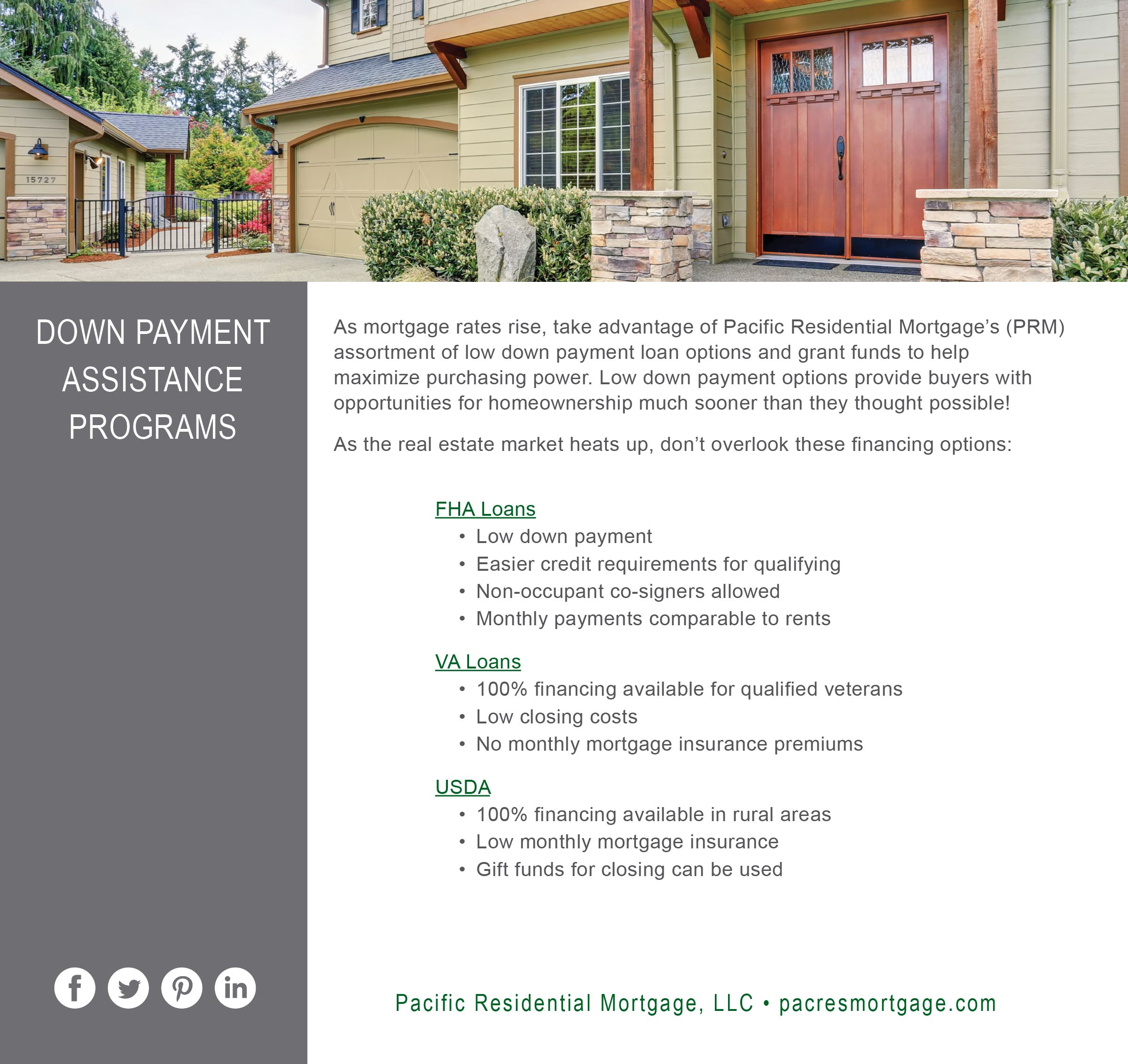 Down-payment Assistance Loan Programs | Home ownership ...