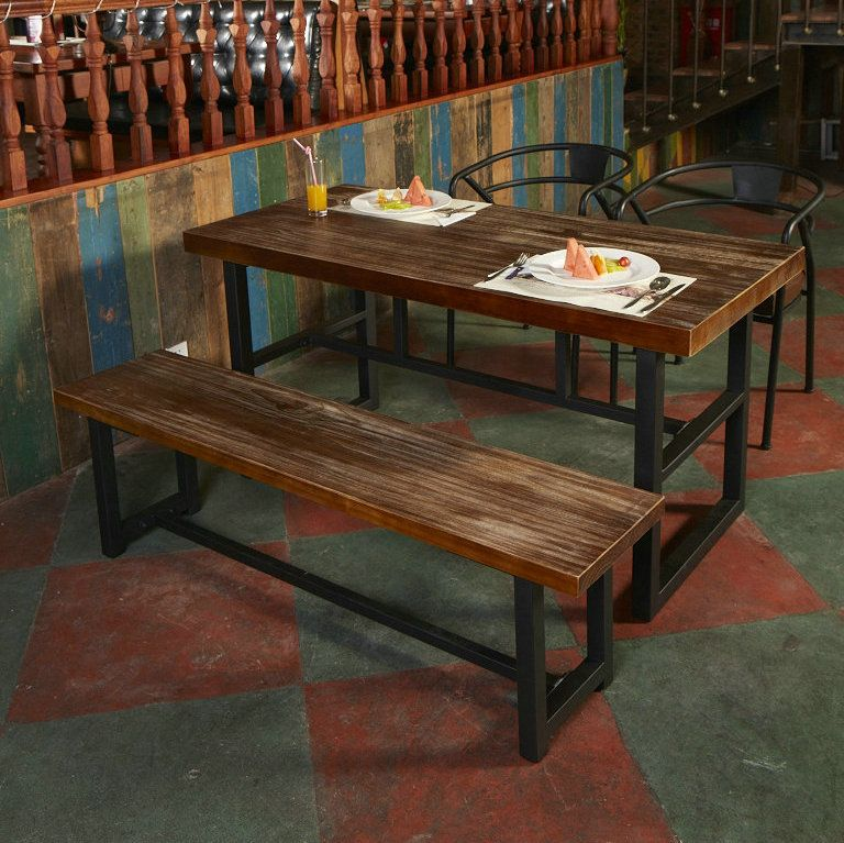 metal and wood dining bench google search dining table