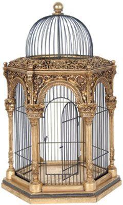 2 Piece Rustic Wire Decorative Bird Cage Set