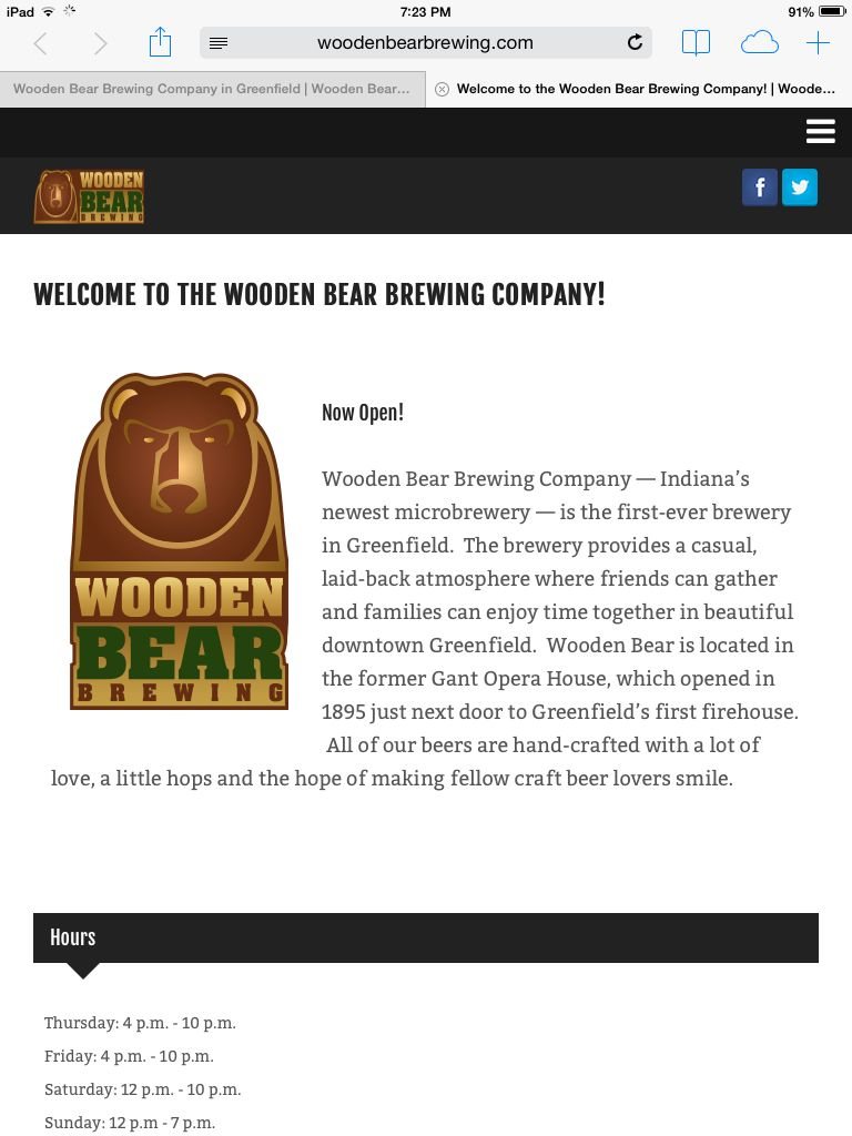 Wooden Bear Brewing Company Greenfield In Indiana Travel And The