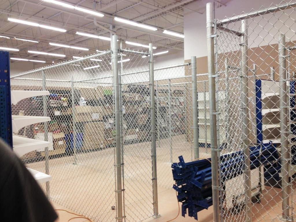 Interior Chain Link Project At Petvalu Indoor Fence Chainlink Romafence