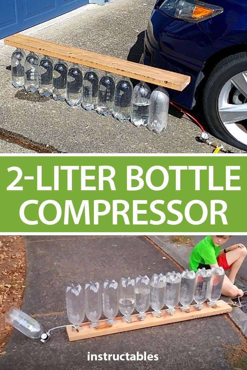 2Liter Bottle Compressor (No Moving Parts) Homemade