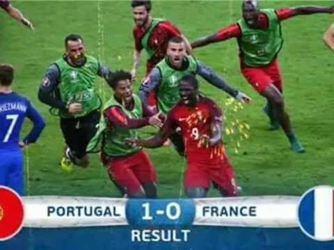 Portugal vs France euro16 * Portugal Campeão da Europa *  european champ...