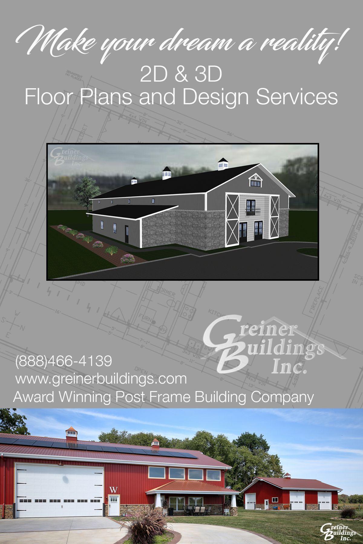 Post Frame Floor Plans by Greiner Buildings Inc Award Winning – Commercial Garage Building Plans