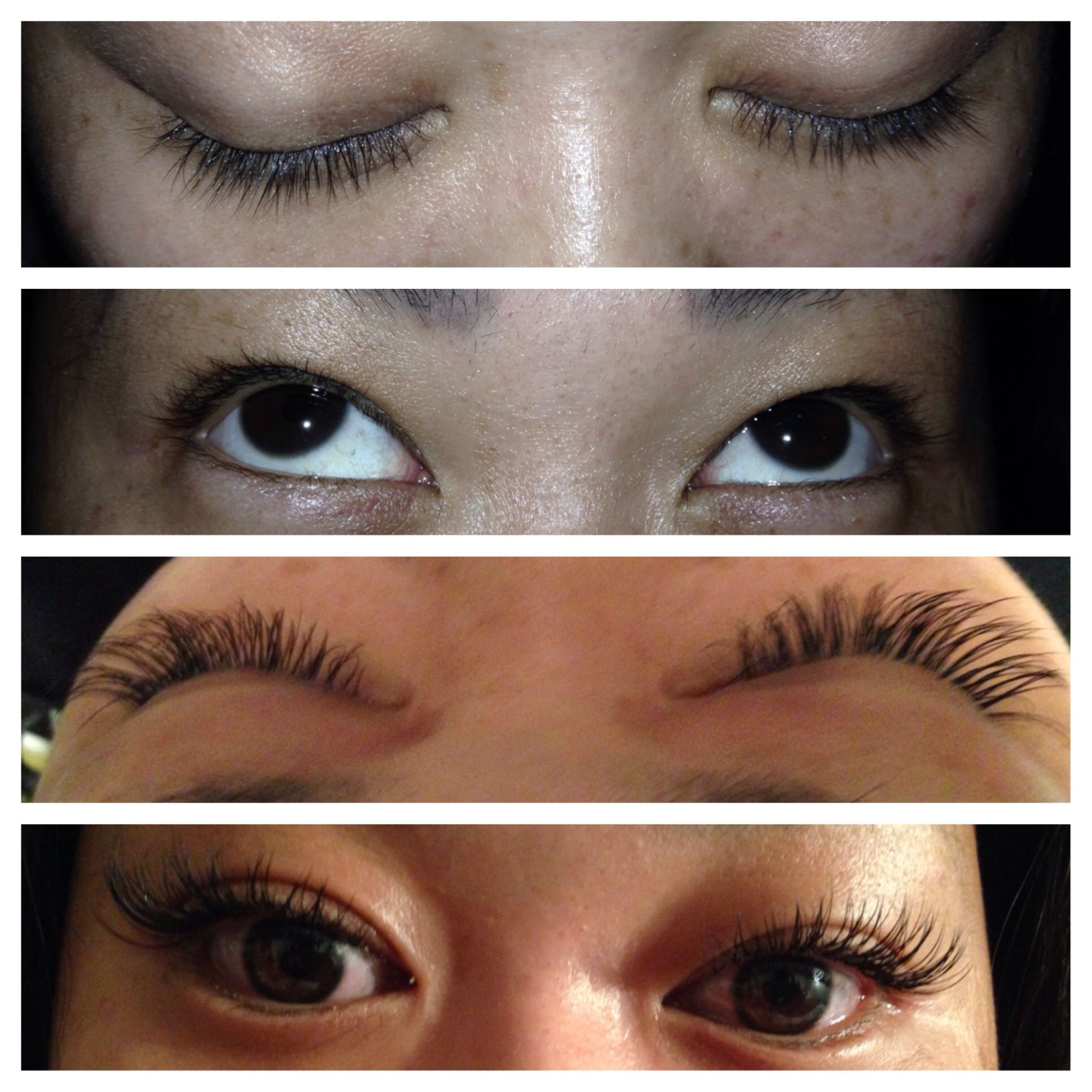 Eyelashes extension before and after done by Patricia ...