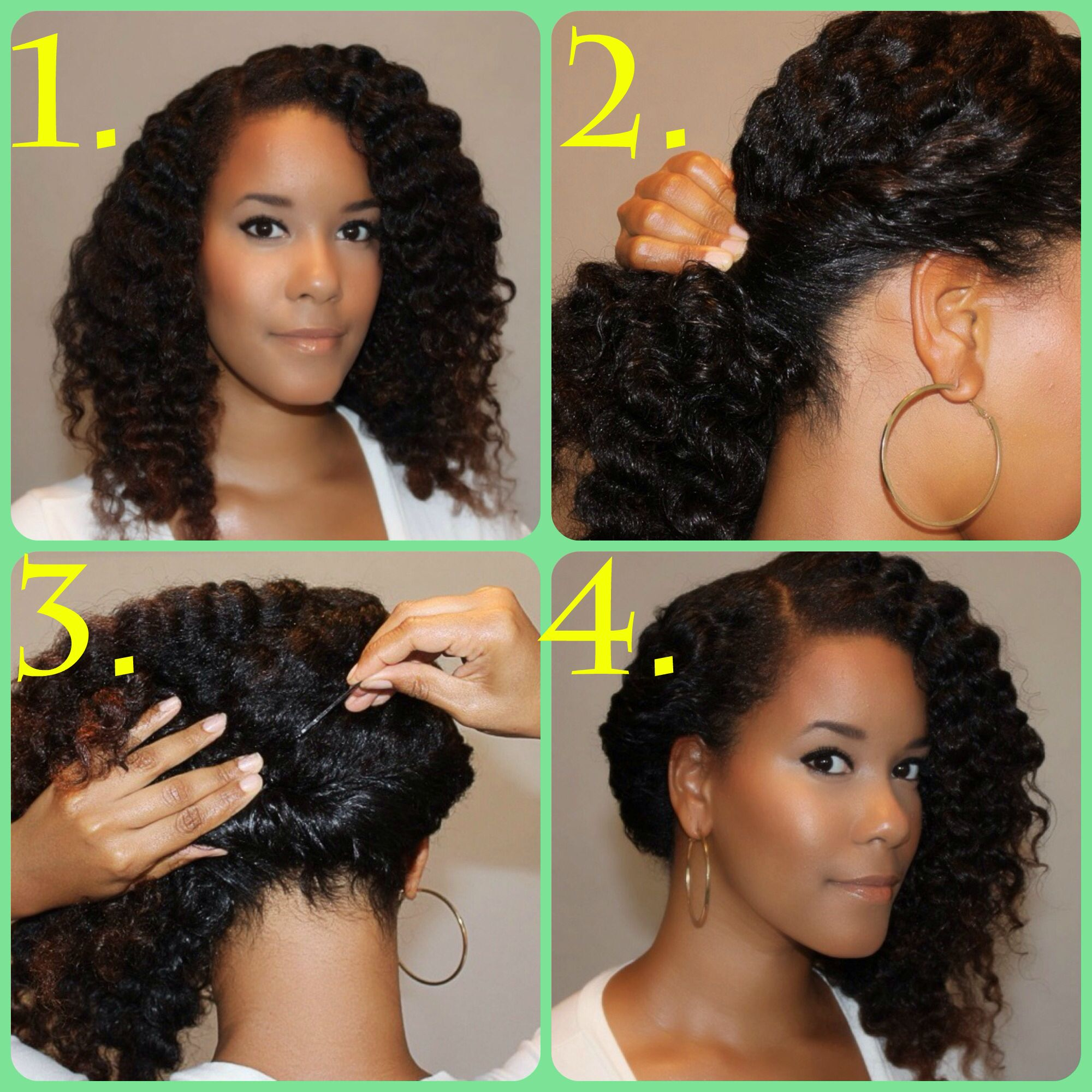 Side Twist Curls Tutorials For Natural And Curly Hair How To