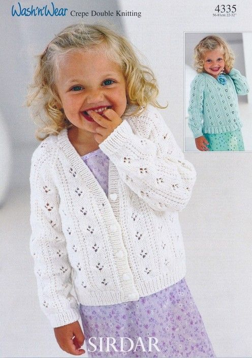 Sirdar Cardigans 1 12 Years Childrens Knitting Patterns