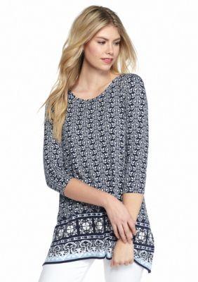 Sophie Max  Printed Jersey Top