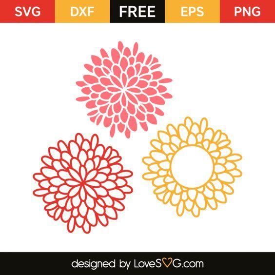 Big Flowers Lovesvg Com Cricut Monogram Flower Svg Files Cricut Free