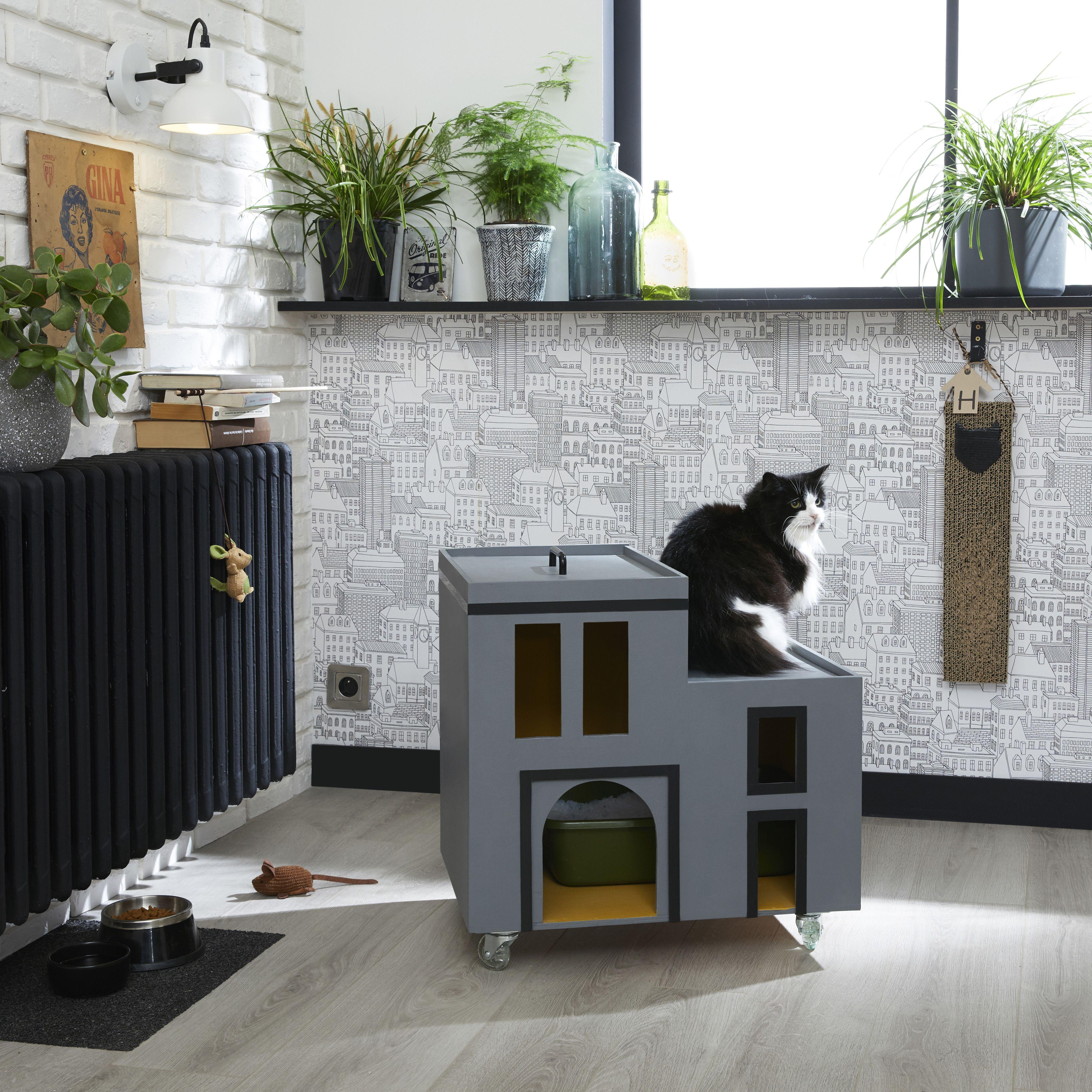 Arbre A Chat Leroy Merlin diy : créer une litière mobile pour chat | diy, maison