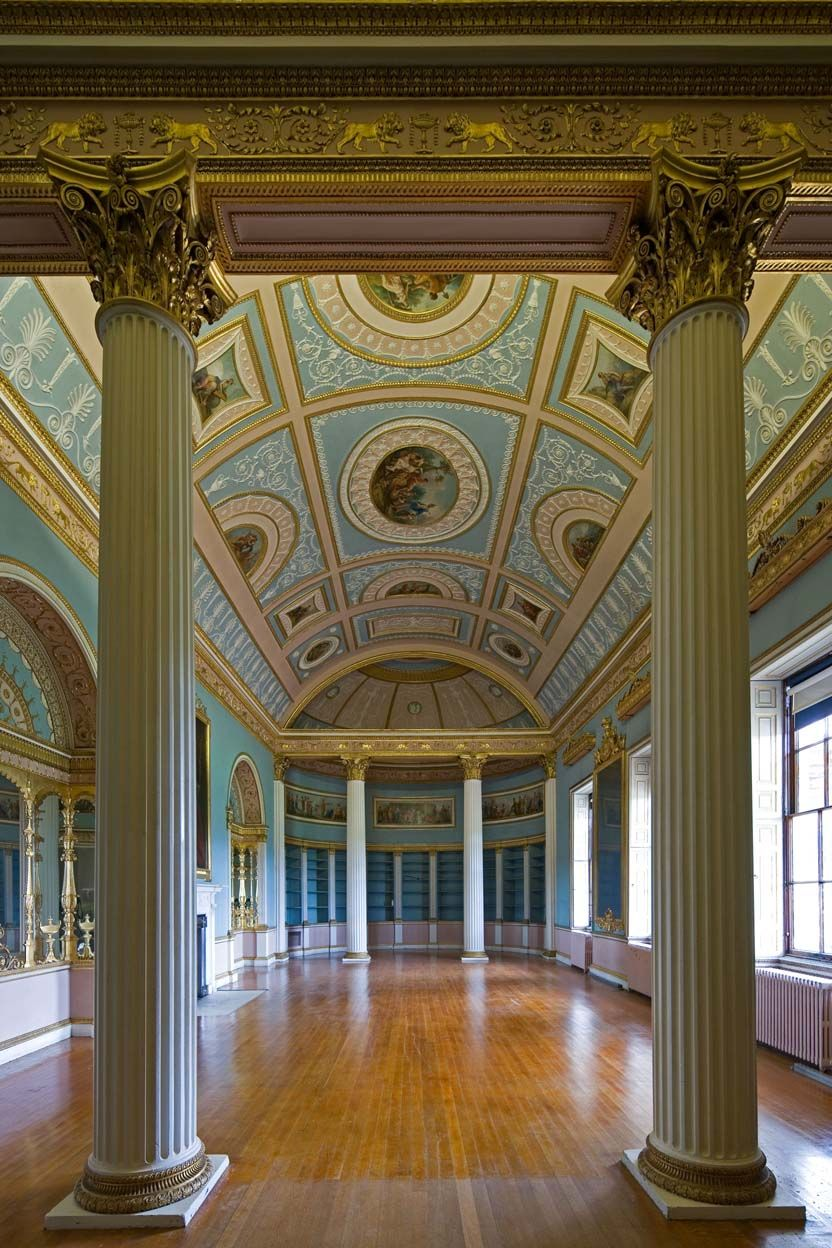 Kenwood house interior architectural photographer kenwood house adam library interior 2