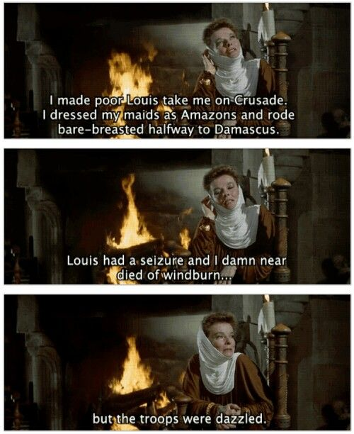 Fabulous Katharine Hepburn as Fabulous Eleanor of Aquitaine in The