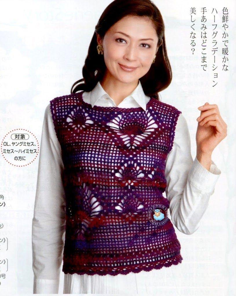 สิ่งมหัศจรรย์โครเชต์: Crochê_Japonêsเสื้อ