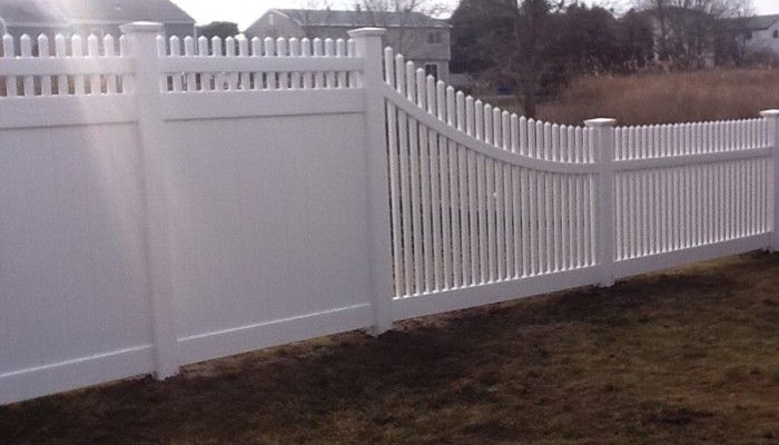 6 Foot Transition To 4 Foot Backyard Fences Fence Design Vinyl Fence