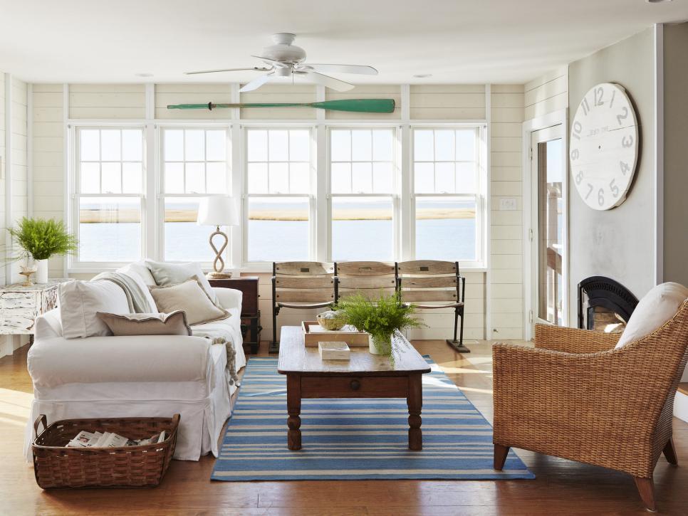 Coastal Living Room Ideas Hgtv Com Hgtv In 2020 Beach House Living Room Coastal Decorating Living Room Coastal Living Room Furniture