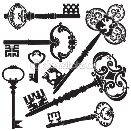 Antique Keys by ArtyUP - Stock Vector