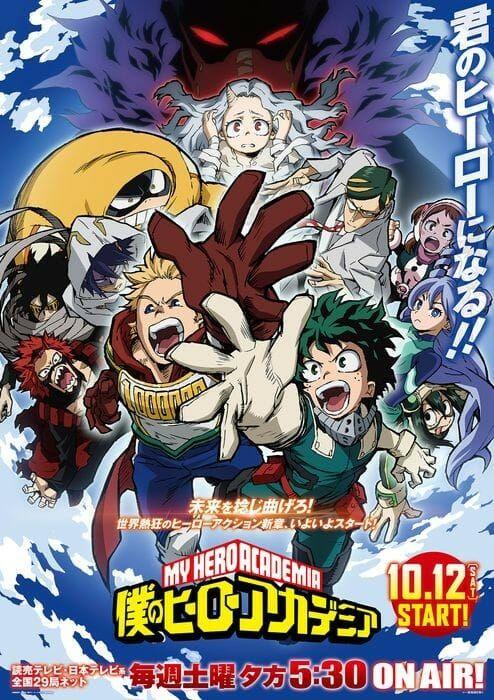 New Visual Revealed For My Hero Academia Season 4 Anime