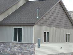 House With Vertical And Horizontal Siding Vinyl Siding Vinyl