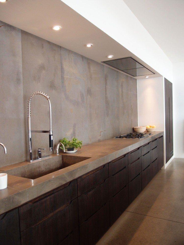 Cr dence b ton cir cuisine avantages inconv nients et id es en images elie pinterest - Credence beton cire cuisine ...