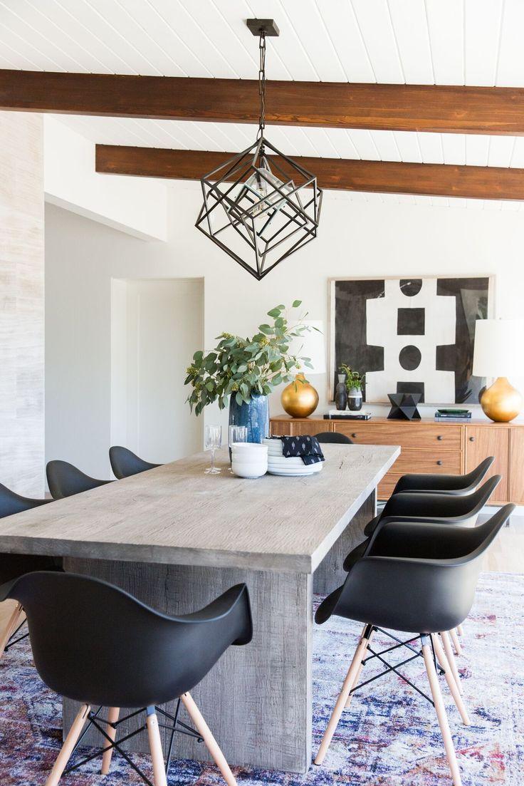 Mid Century Modern Project Reveal Modern Dining Room Minimalist Dining Room Dining Room Makeover