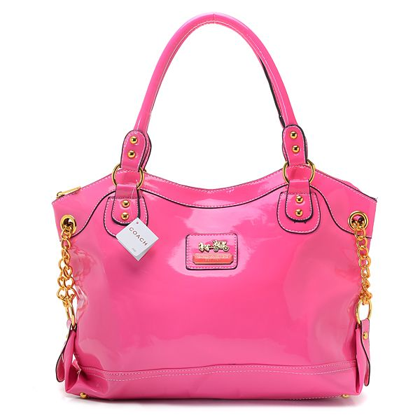 Coach Madison Shiny Leather Large Tote Pink 0756 52 37 Outlet Canada Online