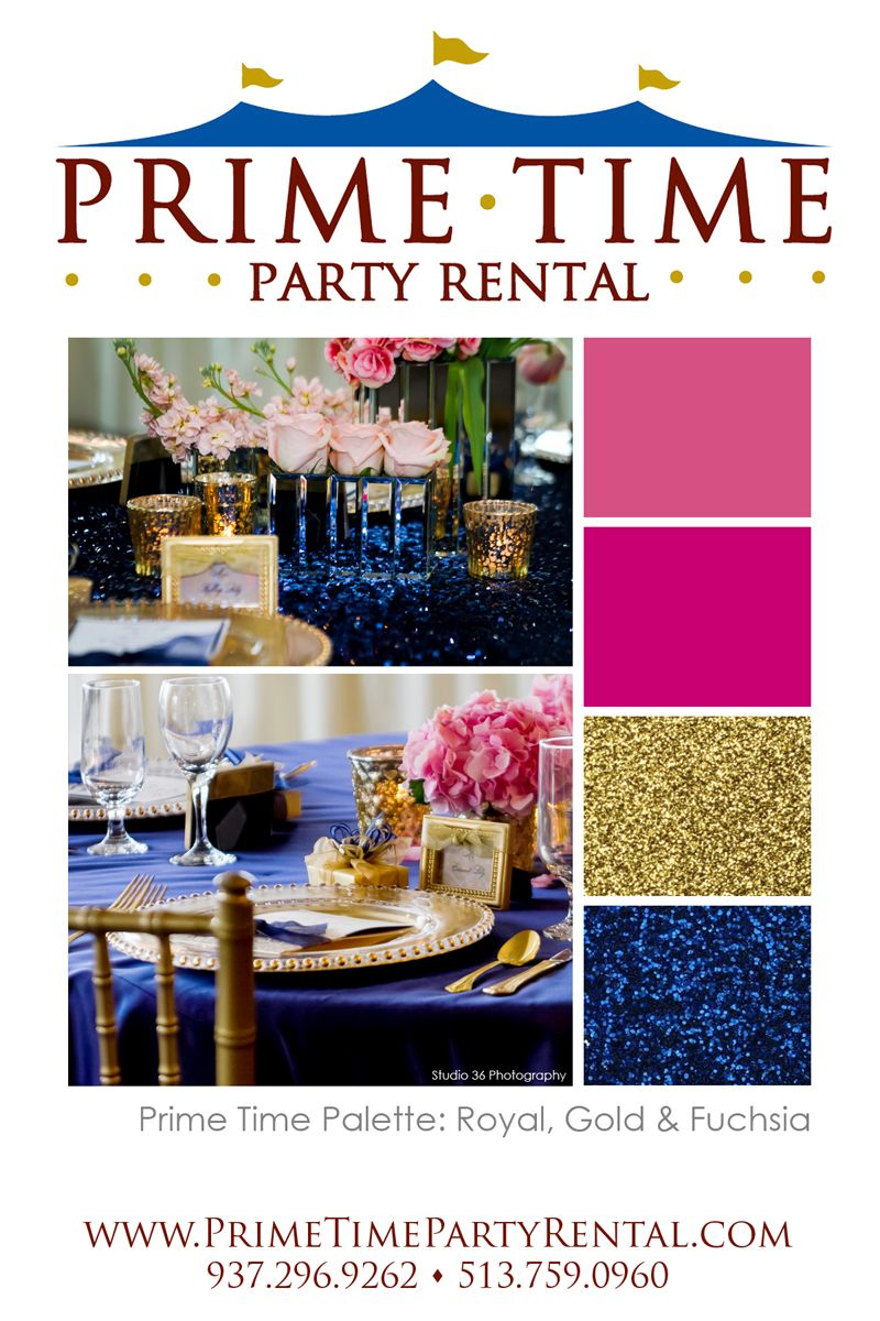 wedding color palette royal blue gold fuchsia photo by studio 36