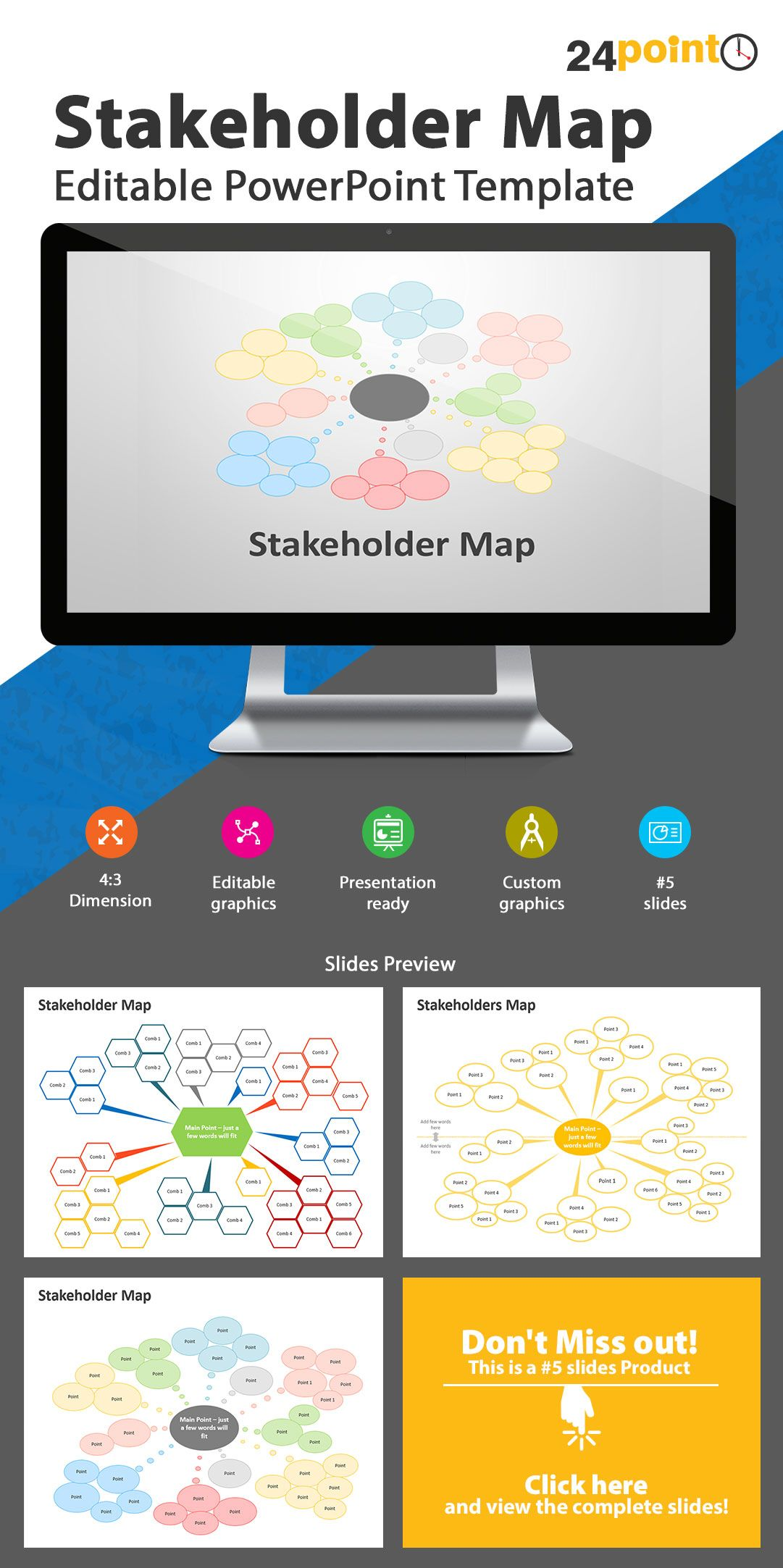 Stakeholder map editable powerpoint templates business concepts stakeholder map editable powerpoint templates toneelgroepblik Gallery