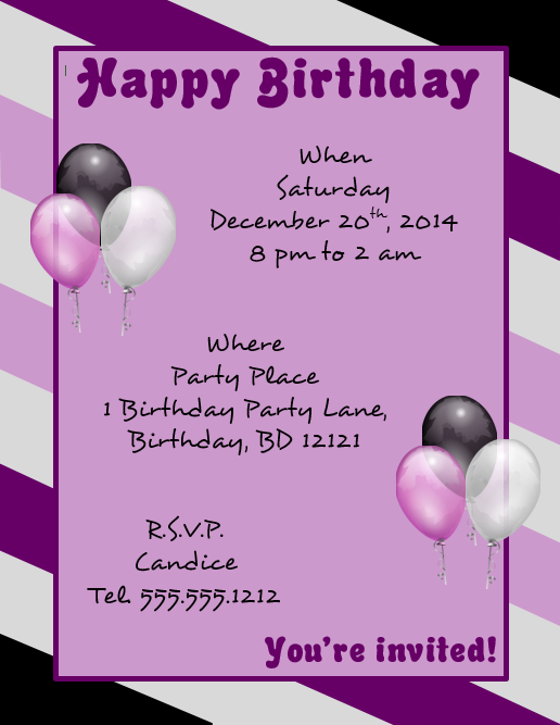 Download A Microsoft Word Template For A Happy Birthday Flyer |  FlyerTutor.com Http:  Microsoft Word Template Flyer