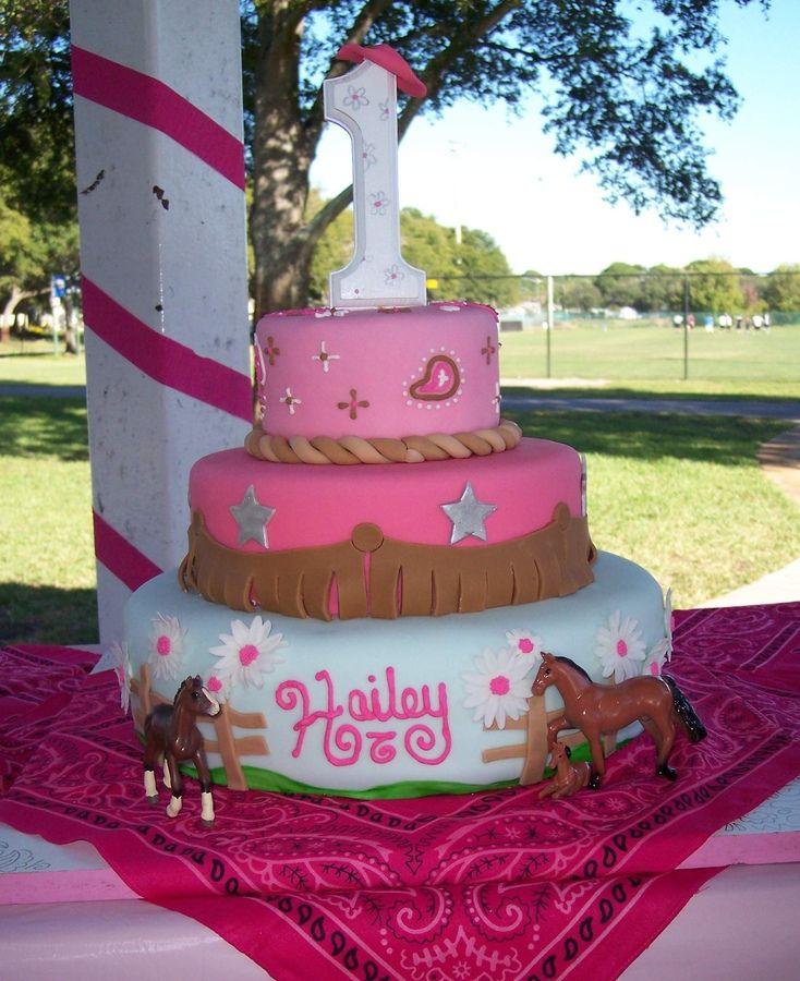 Pleasing A Cowgirls First Birthday Cowgirl Birthday Cakes Cowgirl Funny Birthday Cards Online Alyptdamsfinfo
