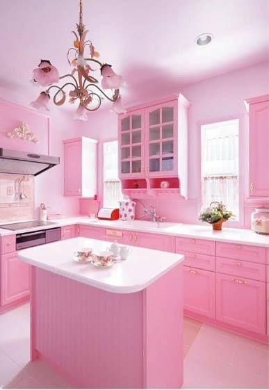 Pinkkitchen Pink Küche Pink Küchentisch Und Stühle Und Pink Lady