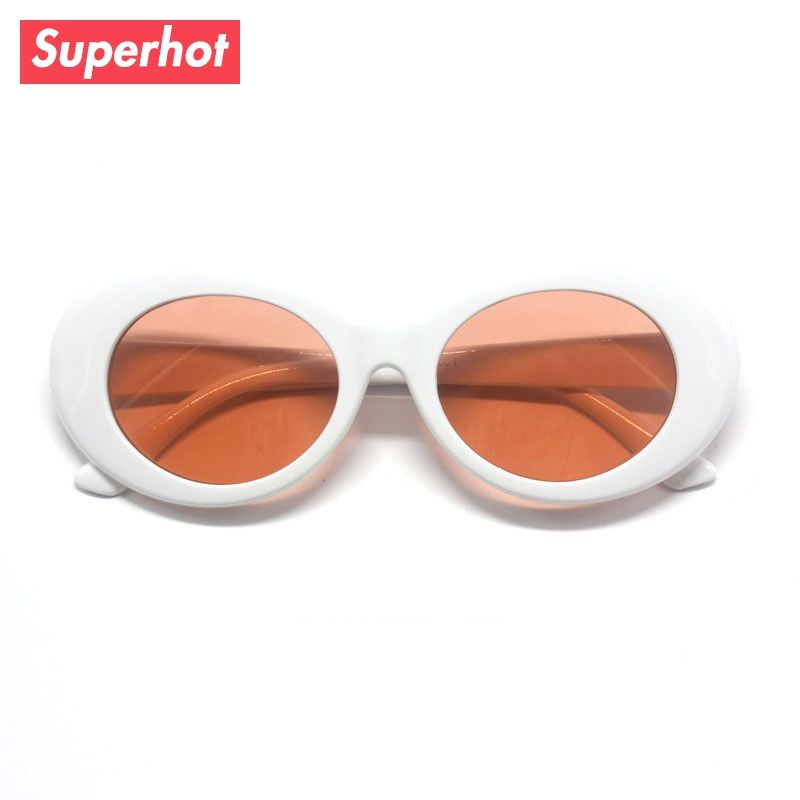 d3005420f4 Oval Sunglasses Brand designer men clout goggles Transparent Lens Fashion  Sun glasses Unisex Oculos de sol