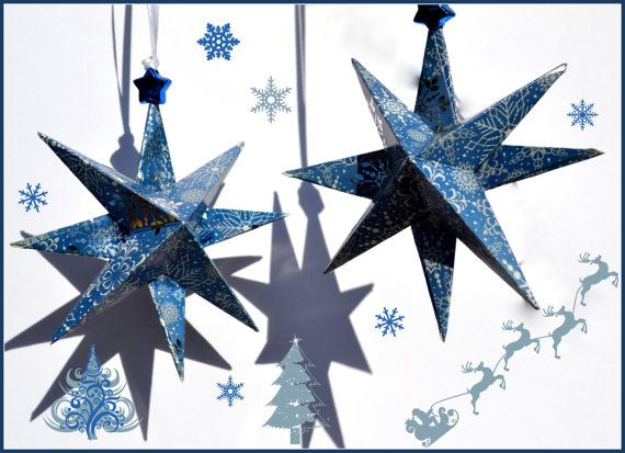 Christmas Stars 3d Xmas Star Ornaments Dec 14th 15th Sale 20